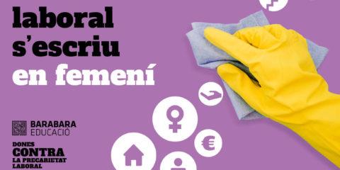 Imatge Precarietat laboral s'escriu en femení