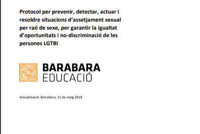 Imatge del Protocol d'assetjament de Barabara Educació